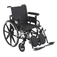 Drive Medical Viper Plus GT Wheelchair with Flip Back Removable Adjustable Full Arms, Elevating Leg Rests, 20 inches Seat - 1 ea