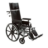 "Drive Medical Viper Plus GT Full Reclining Wheelchair, Detachable Full Arms, 16"" Seat - 1 ea"