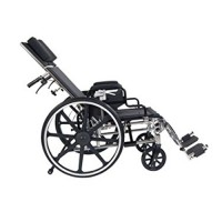 Drive Medical Viper Plus GT Full Reclining Wheelchair, Detachable Desk Arms, 18 inches Seat - 1 ea