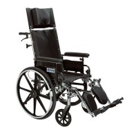 Drive Medical Viper Plus GT Full Reclining Wheelchair, Detachable Desk Arms, 20 inches Seat - 1 ea