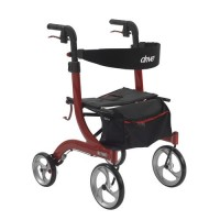 Drive Medical Nitro Euro Style Walker Rollator, Red - 1 ea