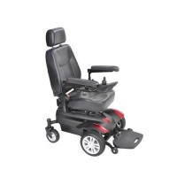 Drive Medical Titan Transportable Front Wheel Power Wheelchair, Vented Captain's Seat, 18 inches - 1 ea