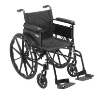Drive Medical Cruiser X4 Lightweight Dual Axle Wheelchair with Adjustable Detachable Arms, Full Arms, Swing Away Footrests, 16 inches Seat - 1 ea