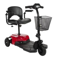 Drive Medical Bobcat X3 Compact Transportable Power Mobility Scooter, 3 Wheel, Red - 1 ea