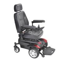 "Drive Medical Titan X16 Front Wheel Power Wheelchair, Vented Captain's Seat, 18"" X 18"" - 1 ea"