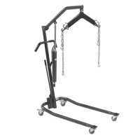 Drive Medical Hydraulic Patient Lift with Six Point Cradle, Silver Vein, 3 inches Casters - 1 ea