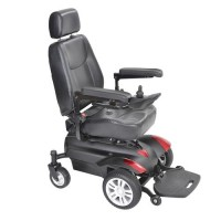 Drive Medical Titan Transportable Front Wheel Power Wheelchair Red/Blue - 1 ea