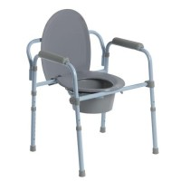 Drive Medical Steel Folding Frame Commode - 1 ea