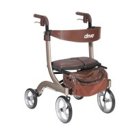 Drive Medical Nitro DLX Euro Style Walker Rollator, Champagne - 1 ea