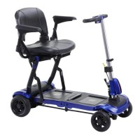 Drive medical zoome flex ultra compact folding travel 4 wheel scooter, blue - 1 ea