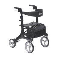 Drive Medical Nitro Elite CF Carbon Fiber Rollator Rolling Walker, Black