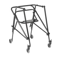 Drive Medical Nimbo 2G Lightweight Posterior Walker with Seat, Extra Large, Emperor Black