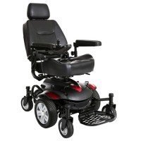 "Drive medical titan axs mid - wheel power wheelchair, 16""x18"" captain seat - 1 ea"