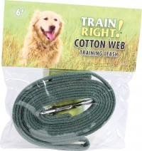Coastal Pet Products train right! cotton web dog training leash - 6 ft, 24 ea