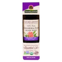 Natures answer Geranium and sage organic blend oil - 0.5 oz