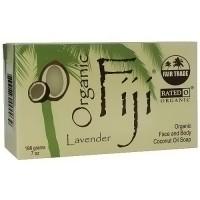 Organic Fiji Face and Body Coconut Oil Bar Soap, Lavender - 7 oz