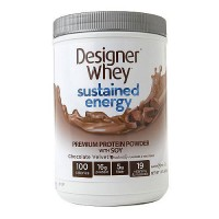 Designer Whey Sustained Energy Premium Protein with Soy Powder, Chocolate Velvet - 1.5 lb