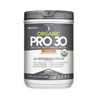 Designer Protein Organic Pro 30, 100% Plant-Based Organic Performance Protein, Chocolate - 1.29lb