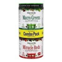 MacroLife Naturals Miracle Reds and Macro Greens Super Food 6 Servings Combo Pack, 4 oz