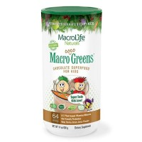 Macrolife naturals macro coco greens chocolate superfood for kids  -  14.2 oz
