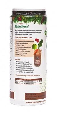 Macrolife naturals macro coco greens chocolate superfood for kids  -  14.2 oz