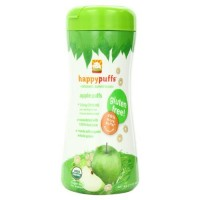 Happy baby organic apple puffs containers - 2.1 oz, 6 Pack