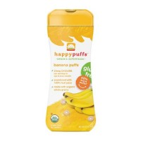 Happybaby happy puffs organic super foods, banana - 2.1 oz, 6 pack