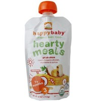 Happy baby organic baby food: stage 3, chick chick - 4 oz, 16 pack