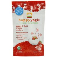 Happy Yogis Baby Food Strawberry - 1 oz, 8 pack