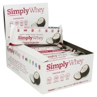 The simply bar simply whey protein bar, coconut - 1.4 oz, 12 pack