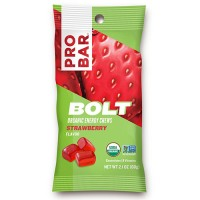 Pro bar bolt organic energy chews strwberry flavor - 2.1 oz, 12 pack