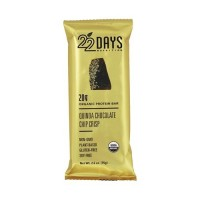 22 Days Nutrition organic protein bar, Quinoa chocolate chip - 2.6 oz, 12 ea