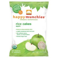 Happybaby happy munchies organic rice cakes apple - 1.4 oz, 10 Pack