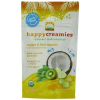 Happy creamies organic superfoods veggie and fruit snacks - 1 oz, Pack of 8