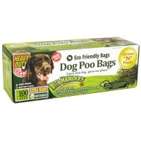 Green n pack eco friendly dog poo bags handle ties extra giant - 100 bags