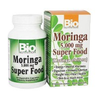 Bio Nutrition Moringa Super Food 5000 mg Vegetarian Capsules - 60 ea