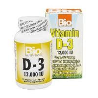 Bio Nutrition Vitamin D-3 12000 IU Vegetarian Capsules - 50 ea