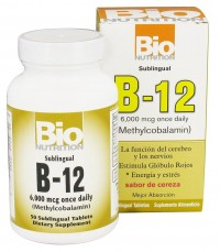 Bio Nutrition B-12 Methylcobalamin, Cherry Flavor - 50 Tablets