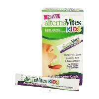 AlternaVites Kids Raspberry cotton candy Crystals - 0.09 oz, 30 ea