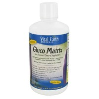 Vital earth gluco matrix joint support, natural tropical pineapple - 32 oz