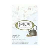 South of france french milled vegetable bar soap green tea - 6 oz