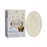 French milled oval soap with organic shea butter - 6 oz