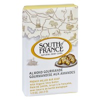 South of france bar soap almond gourmande travel - 1.5 oz,12 pack