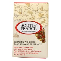 South of france french milled vegetable bar soap climbing wild rose - 1.5 oz. ,12 pack
