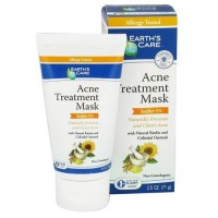 Earths Care Acne Treatment Mask, Sulfur 5% - 2.5 oz