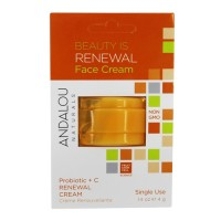 Andalou naturals beauty is renewal face cream - 0.14 oz, 6 pack