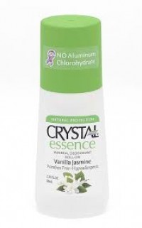 Crystal Essence Mineral Deodorants Roll On,Vanilla Jasmine - 2.25 Oz