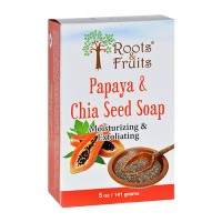 Roots and fruits bar soap papaya and chia seed - 5 oz