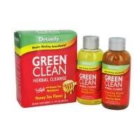 Detoxify green clean herbal cleanse, honey tea flavor - 8 oz