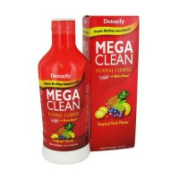 Detoxify mega herbal cleanse, tropical flavor - 32 oz